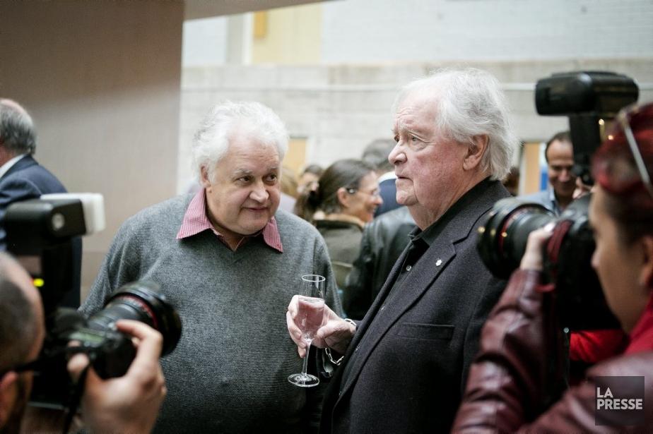 Le scripteur Jean-Pierre Plante et le réalisateur Jean... (Photo: Marco Campanozzi, La Presse)