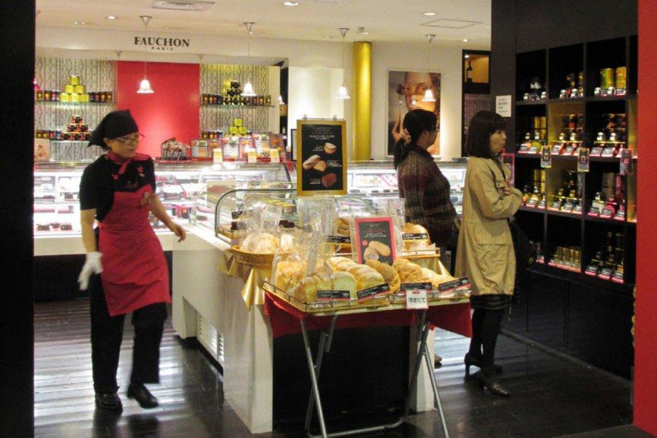 La boutique sous licence Fauchon d'un grand magasin... (PHOTO  AFP / JIJI PRESS)