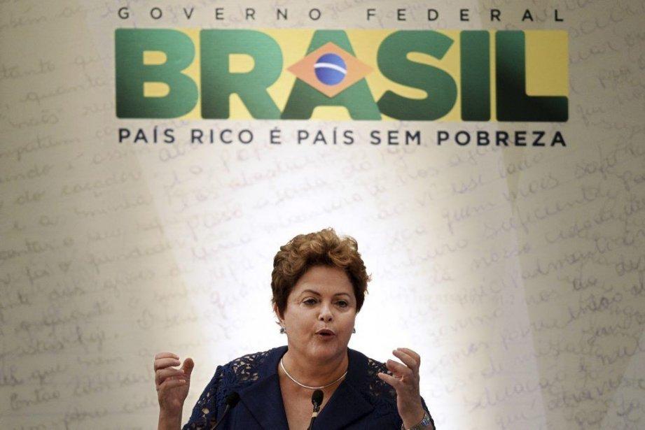 La Brésilienne Dilma Rousseff est plus active que... (PHOTO EVARISTO SA, AFP)