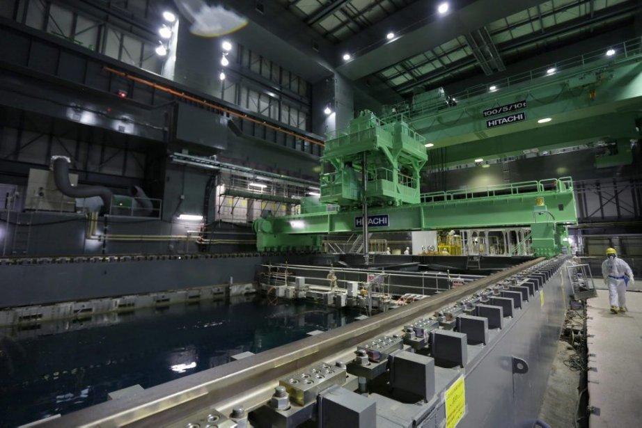 Le réacteur 4 était vide de combustible au... (Photo AP)