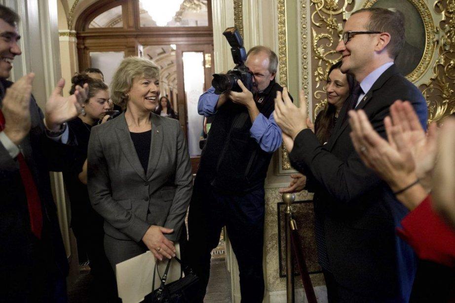 Le Sénat américain a adopté jeudi un projet de loi historique... (Photo AFP)