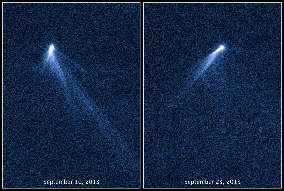 Ses six queues ont été découvertes par Hubble,... (Photo AP)