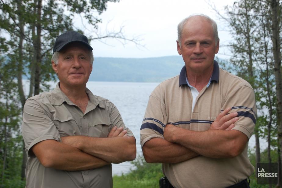Raymond Boulanger (à gauche) a rencontré en Gaspésie... (Photo archives La Presse)
