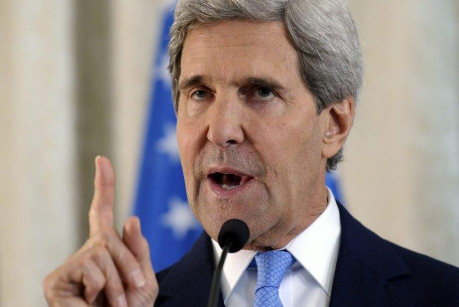 Le secrétaire d'État américainJohn Kerry a affirmé qu'Israël... (Photo Susan Walsh, AP)