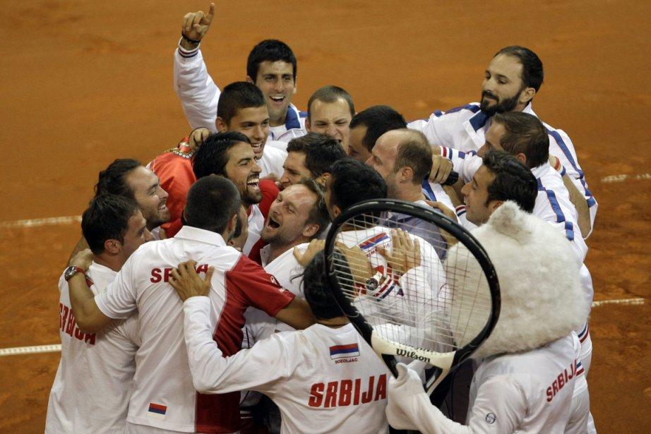 La Serbie s'est qualifiée pour la finale de... (Photo Marko Drobnjakovic, AP)
