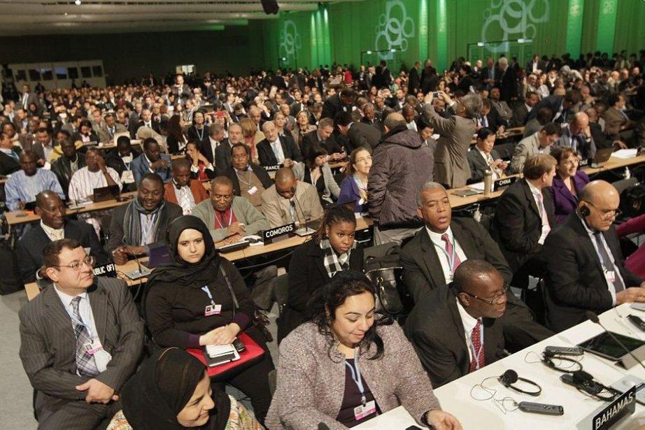 Des délégués réunis au centre des congrès de... (Photo Associated Press)