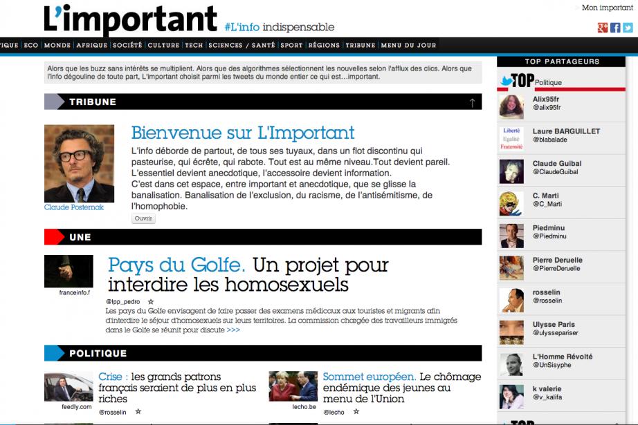 Le site limportant.fr, réalisé exclusivement à partir de...