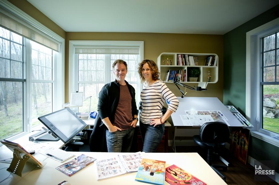 Marc Lafontaine et Maryse Dubuc, auteurs des Nombrils,... (Photo: Marco Campanozzi, La Presse)