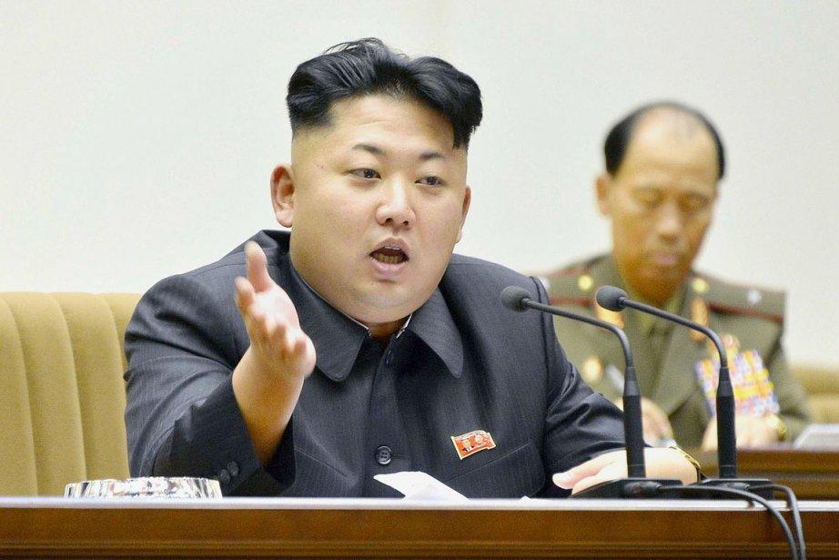 Le leader nord-coréen Kim Jong-un, à Pyongyang, le... (PHOTO AFP)