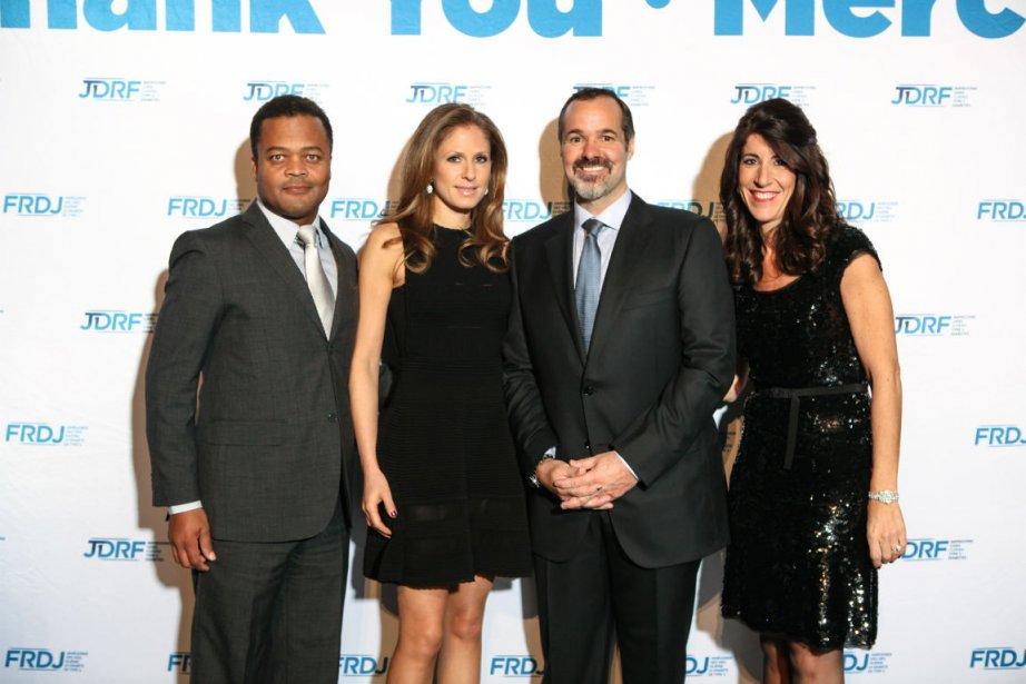 Joey Saputo, Errold Jean, Lori Pesner et Cathy...