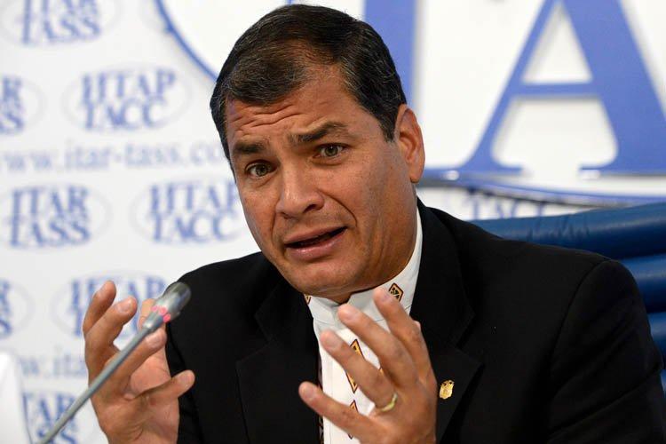 Rafael Correa... (Photo: AFP)