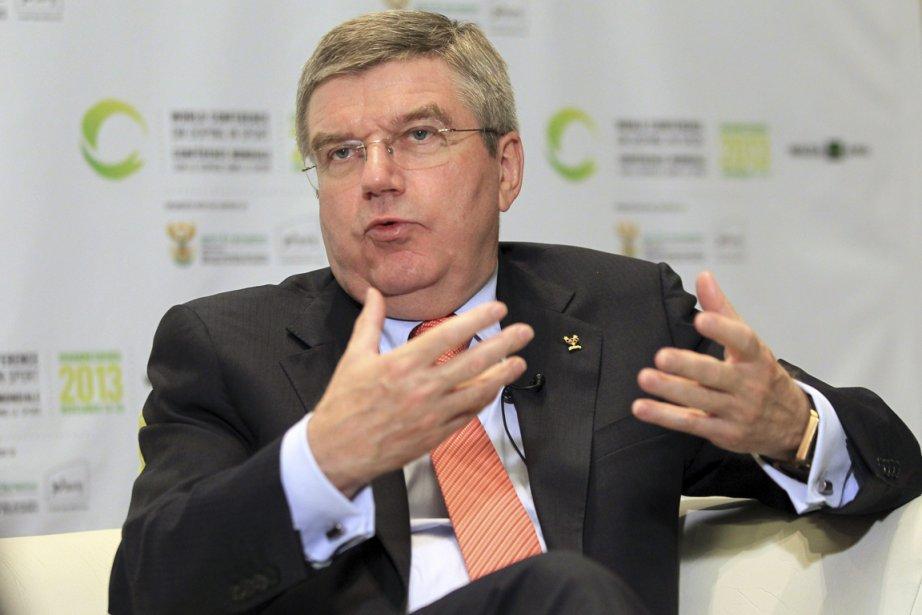 Le président du Comité international olympique, Thomas Bach.... (Photo Themba Hadebe, AP)
