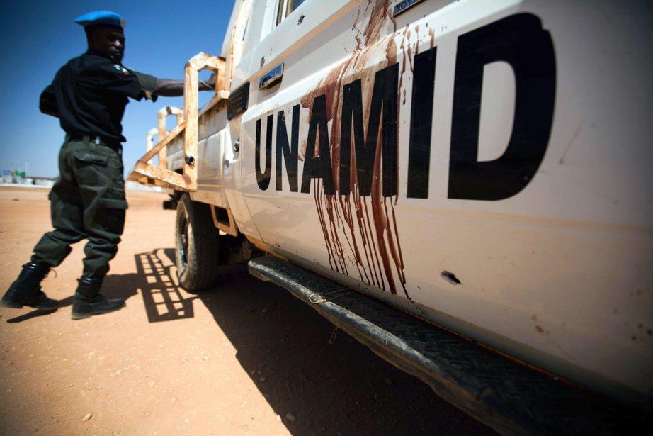 La mission conjointe ONU-Union africaine au Darfour (MINUAD)... (PHOTO ALBERT GONZALEZ, ARCHIVES AFP)