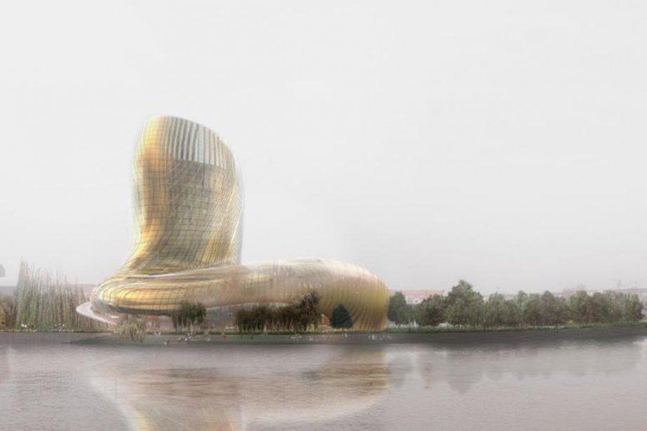 Modélisation de la future Cité des civilisations du... (Photo fournie par la Cité des civilisations du vin)