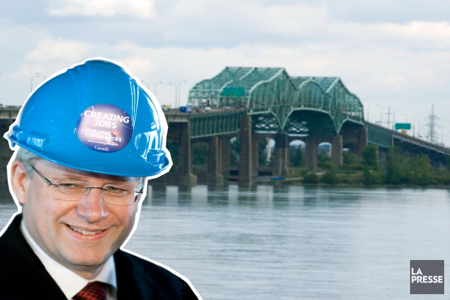 Le premier ministre du Canada, Stephen Harper, est à... (Photomontage La Presse)