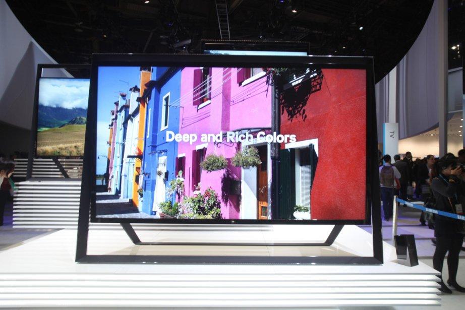 Samsung a présenté ses premiers téléviseurs UHD au... (PHOTO FOURNIE PAR SAMSUNG)