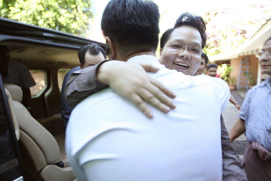 Parmi les amnistiés figurent deux petits-fils du dictateur... (PHOTO KHIN MAUNG WIN, AP)