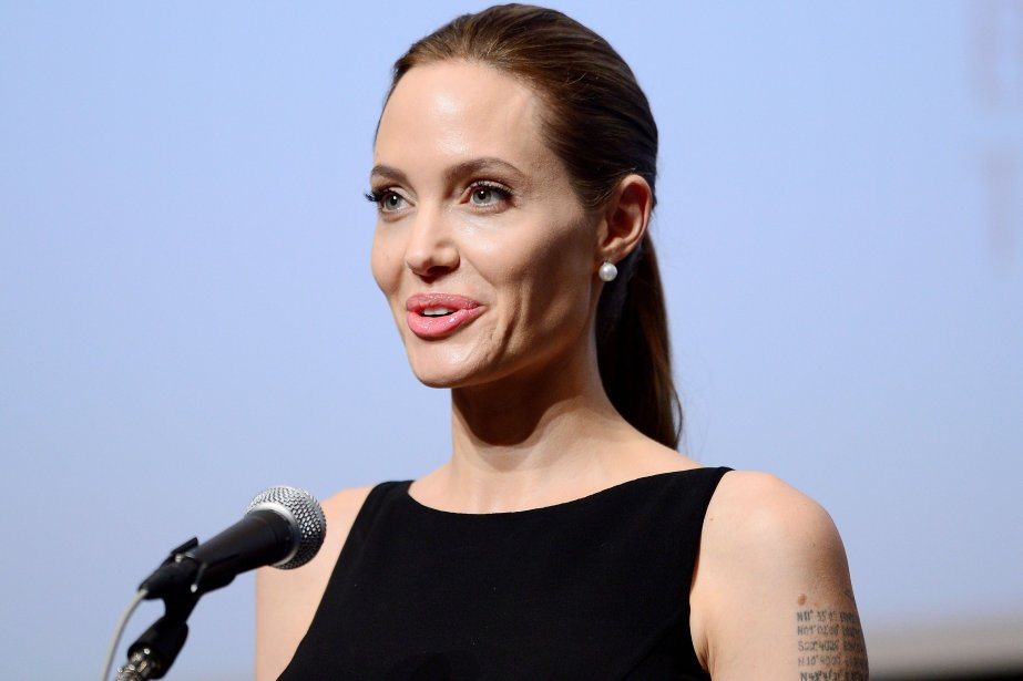 L'actrice Angelina Jolie... (Photo Toru YAMANAKA, archives AFP)