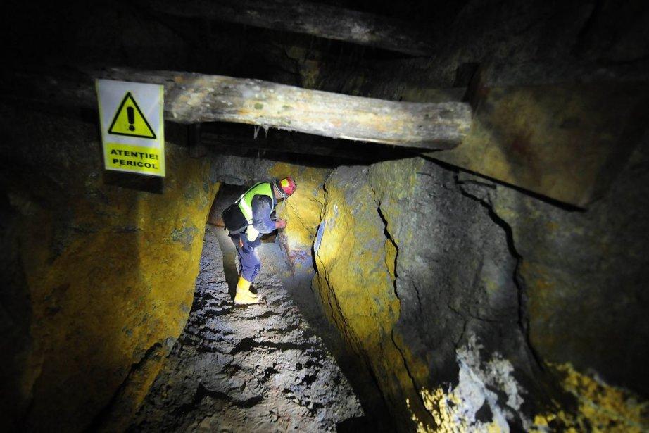 Gabriel Resources, propriétaire de la mine Rosia Montana,... (PHOTO DANIEL MIHAILESCU, ARCHIVES AFP)