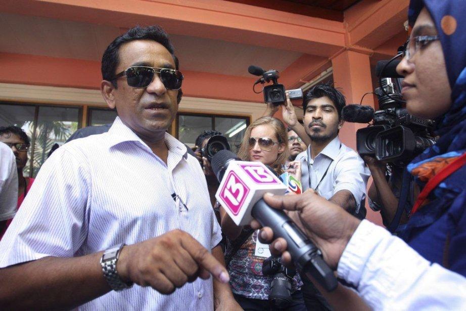 Abdulla Yameen l'emporte avec 51,3% des voix contre... (PHOTO WAHEED MOHAMED, REUTERS)
