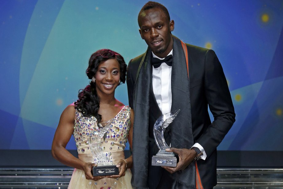 Les sprinteurs jamaïcains Shelly-Ann Fraser-Pryce et Usain Bolt... (Phoot Eric Gaillard, Reuters)