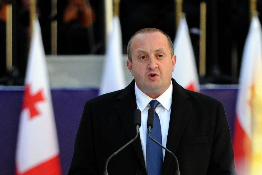 Guiorgui Margvelachvilia obtenu près de 62% des voix... (Photo VANO SHLAMOV, AFP)