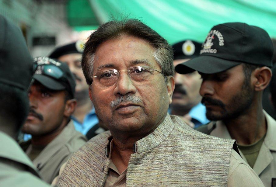 L'ancien président du Pakistan Pervez Musharraf.... (Photo AAMIR QURESHI, AFP)