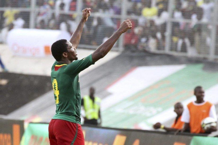 Samuel Eto'o... (PHOTO HOSNI MANOUBI, AGENCE FRANCE PRESSE)