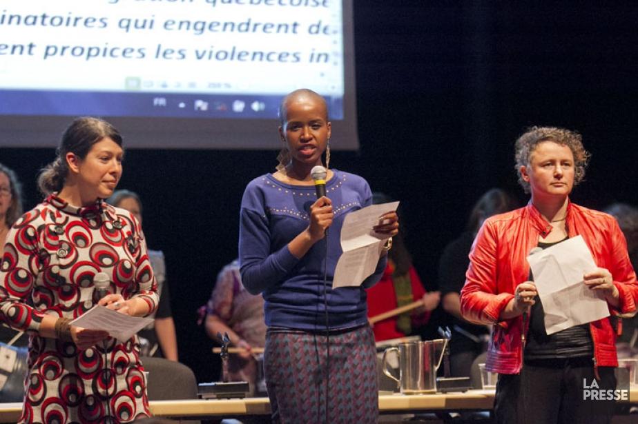 Les porte-paroles des États généraux de l'action et... (Photo: Hugo-Sébastien Aubert, La Presse)