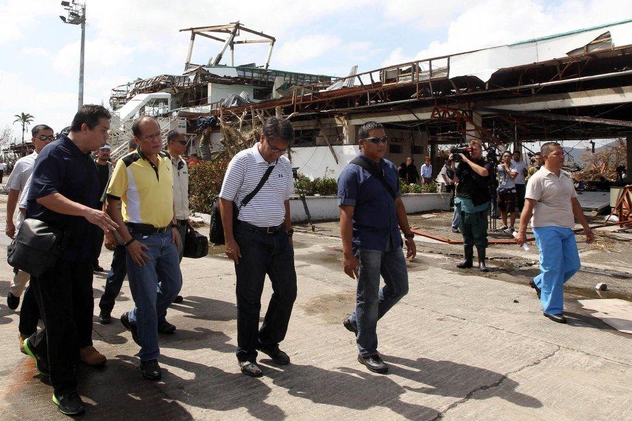 M.Aquino doit s'établir à Tacloban, la capitale de... (Photo AFP)