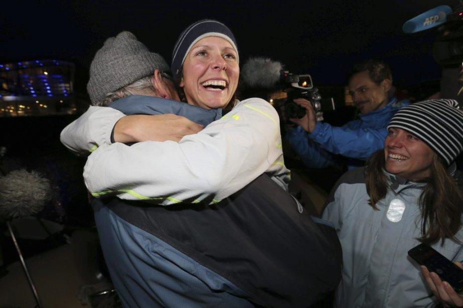 Mylène Paquette à son arrivée.... (Photo Associated Press)