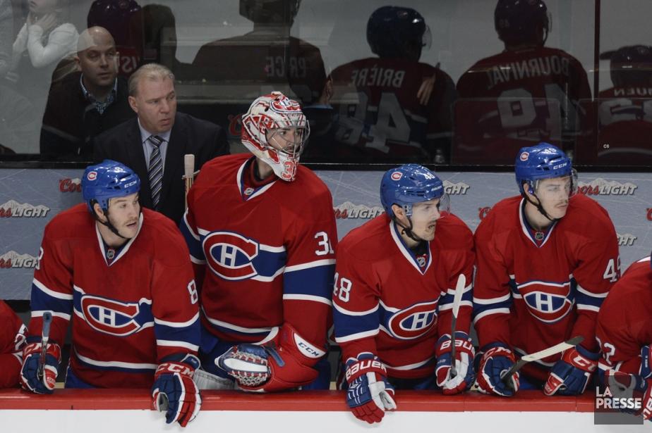 Carey Price, ici au banc en fin de... (Photo Bernard Brault, La Presse)