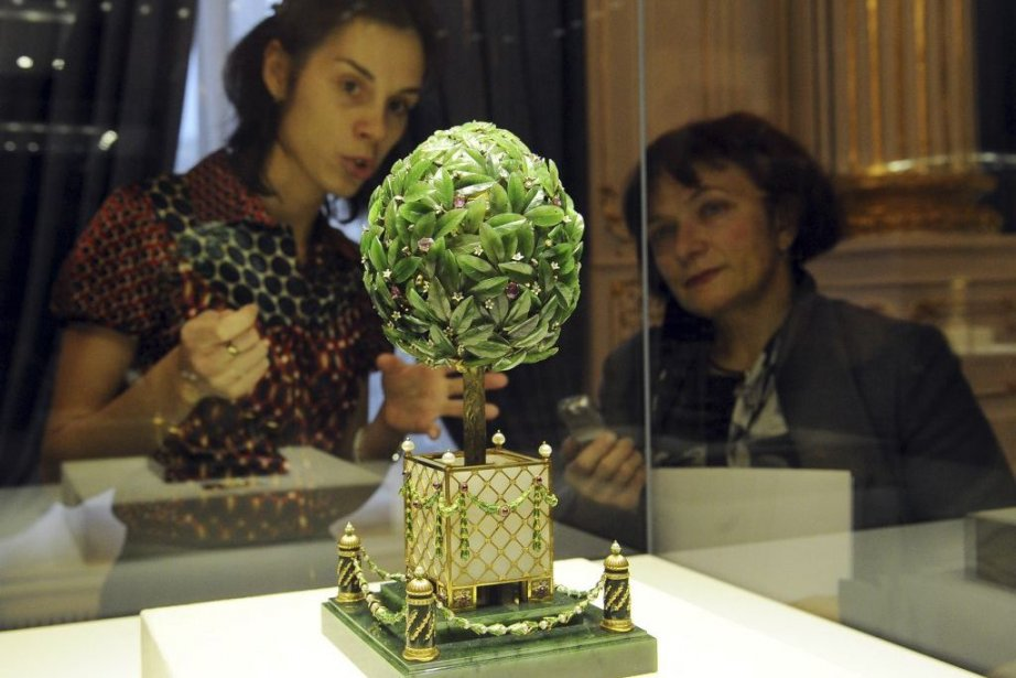 Laurel Tree de Peter Carl Fabergé au Musée... (Photo: AFP)