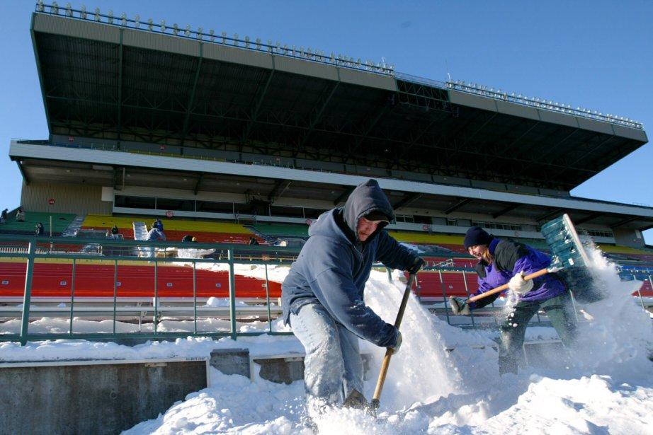 Le Mosaic Stadium, résidence des Roughriders de la... (Photo Shaun Best, archives Reuters)