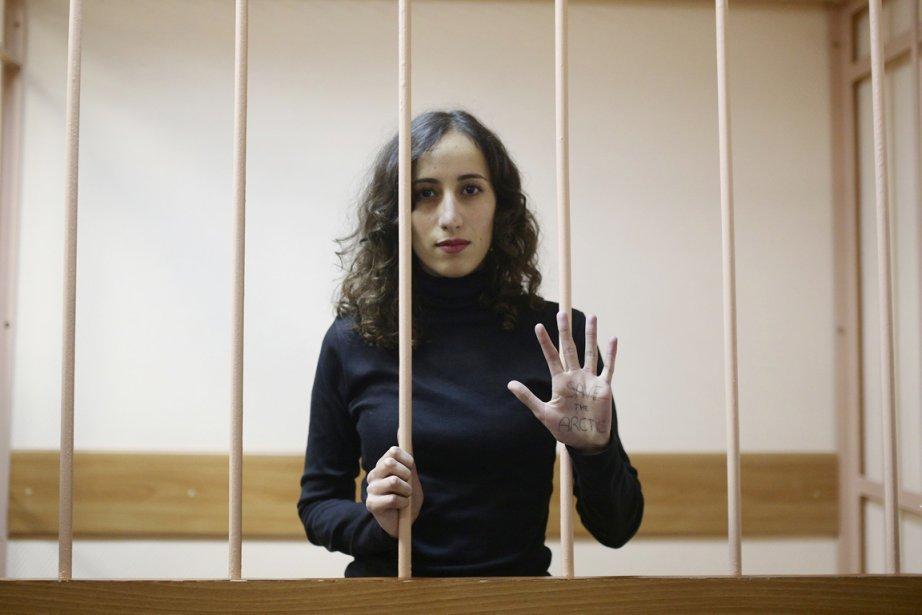 Lors de l'audience, la Néerlandaise Faïza Oulahsen, qui... (PHOTO EVGENY FELDMAN, AP)
