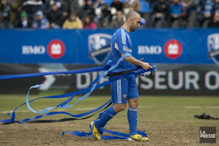 Marco Di Vaio de l'impact au stade Saputo... (PHOTO Robert Skinner, La Presse)
