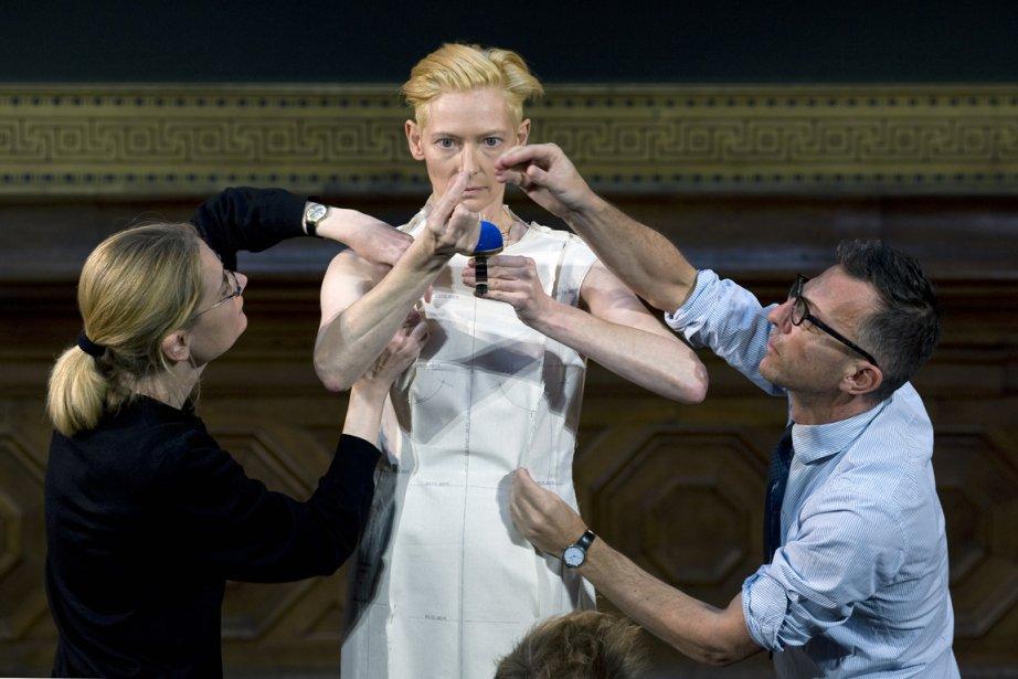 Pour préparer la chorégraphie, Olivier Saillard et Tilda... (Photo fournie par Vincent Lappartient)