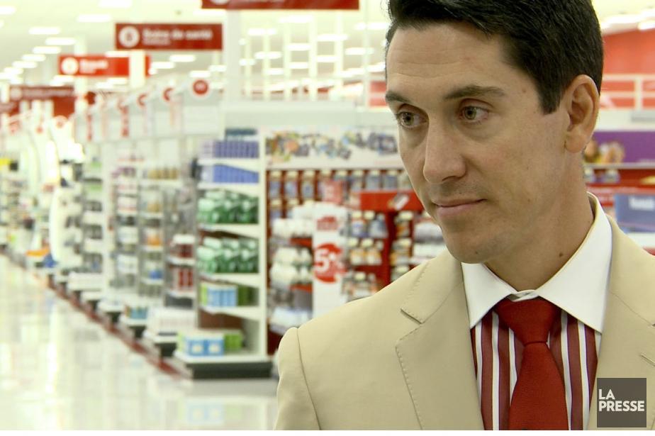 Tony Fisher, président de Target Canada, ne s'attendait... (Photo tirée dune vidéo de MARTIN LEBLANC, La Presse)