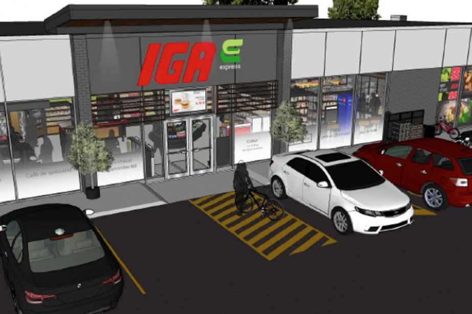 Le nouveau «IGA Express» est en fait un... (Photo de la maquette fournie par Sobeys)