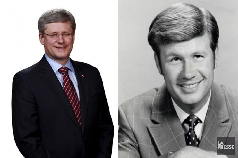 Le premier ministre Stephen Harper et l'acteur américain... (Photomontage La Presse)