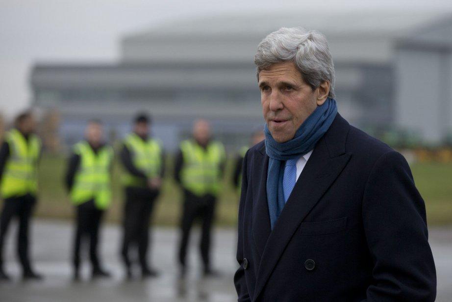 Le secrétaire d'État John Kerry a défendu dimanche... (Photo Carolyn Kaster, AP)