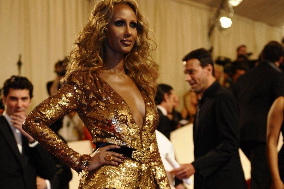 Le top model Iman.... (Photo: AFP)