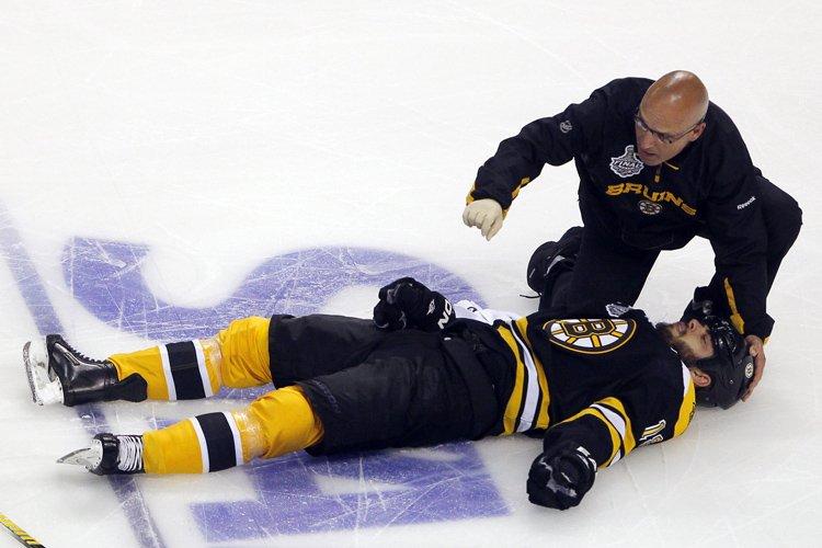 Nathan Horton des Bruins de Boston a subi... (Photo: Reuters)