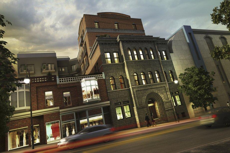 L'ancienne brasserie Ekers, construite en 1894 au sud de la rue Sherbrooke, change de vocation. Le St-Dominique comptera une soixantaine de condos haut de gamme. (Illustration fournie par DEVMCGILL)