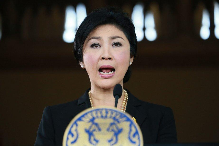 La première ministre,Yingluck Shinawatra.... (Photo Wason Wanonchakorn, AP)