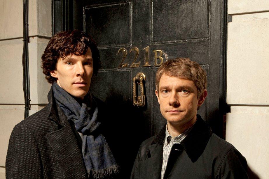 Benedict Cumberbatch etMartin Freeman dansSherlock.... (PHOTO FOURNIE PAR HARTSWOOD FILMS/BBC)