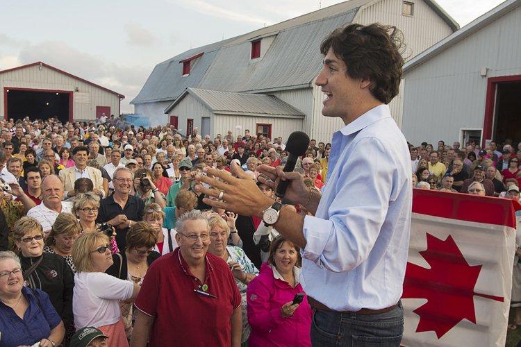 Le chef libéral Justin Trudeau.... (Photo: PC)