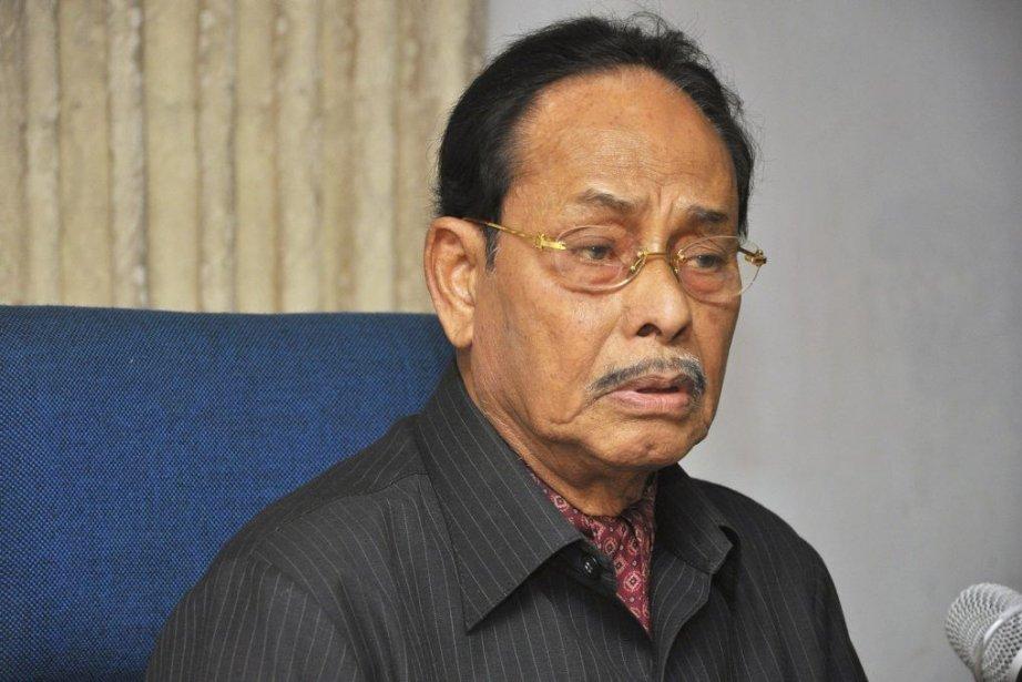 Le chefr du parti Jatiya, HM Ershad.... (Photo AFP)