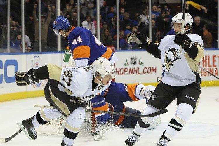 Sidney Crosby a signé son 15e filet de la saison en prolongation... (Photo: AP)