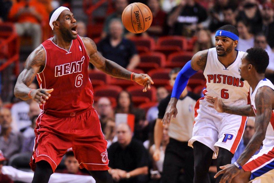 LeBron James (à gauche) et le Heat de... (Photo Steve Mitchell, USA Today)